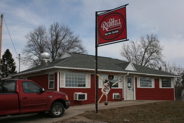 The Red Hill Royal Cafe sits along Wisconsin State Highway 21 in Coloma.
