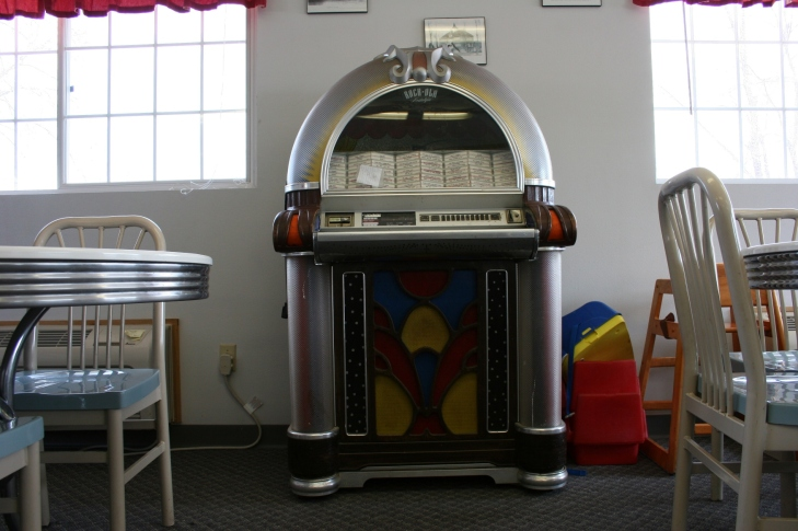 The jukebox brings back memories.