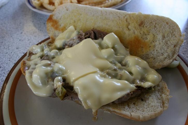 My Philly steak sandwich.