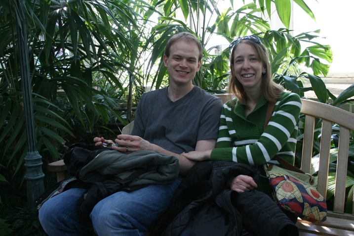 Even though you're not supposed to snap posed portraits, I managed to take a quick shot of my daughter and her husband in the Palm Dome.
