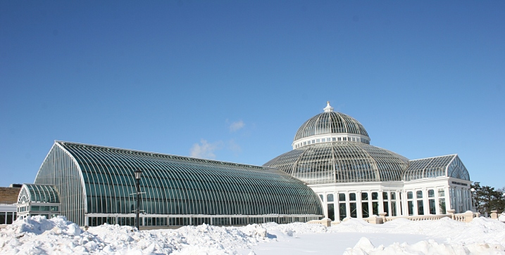 The Mzarjorie McNeely Conservatory at Como Park in St. Paul, Minnesota.