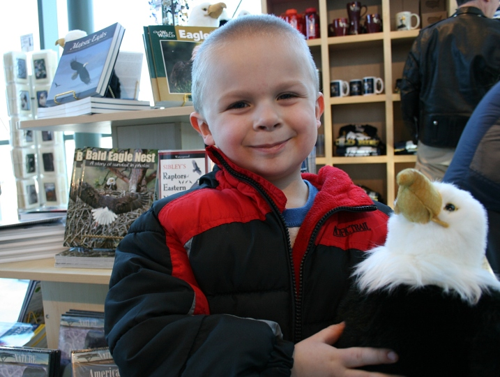 ...Joseph found a plush toy eagle.