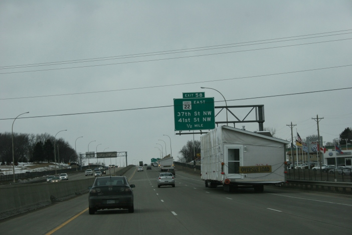 Photographed along U.S. Highway 52 in Rochester, Minnesota.
