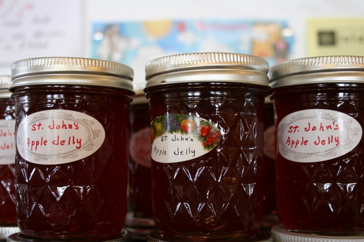 Beautiful and savory St. John's apple jelly.