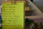 Lenten soup luncheon, saladsign
