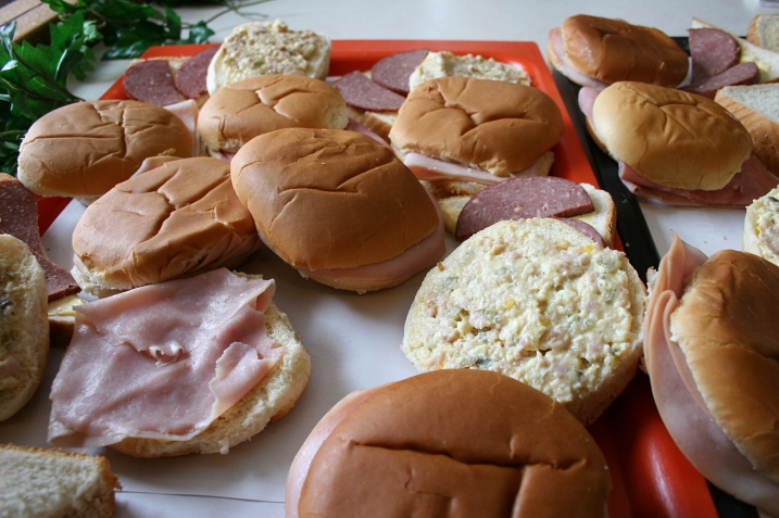 Sandwich choices from ham to sausage to open face.
