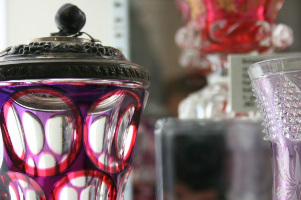 Glassware in an array of colors.