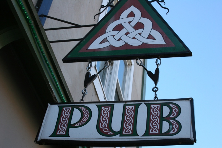 The pub's Triquetra, Celtic (Trinity) knot, symbolizes the three parts of a good life: friendship, food and drink.
