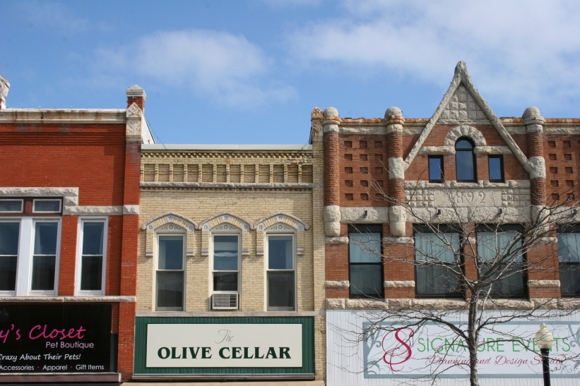 Downtown Neenah features historic buildings.