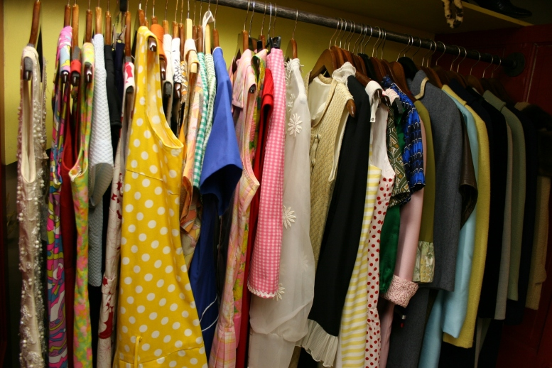 Clothing from the 1960s found in the Laugh-in & Goldie's Style Closet.