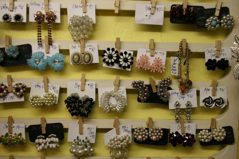 Vintage jewelry galore.