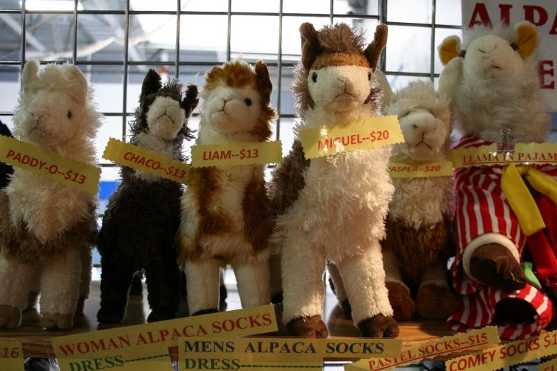 Cute alpaca toys.