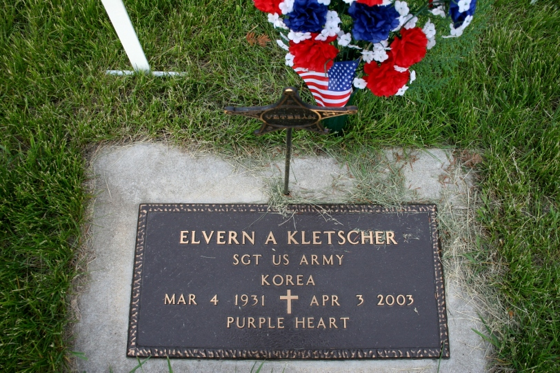 My dad's military marker in the Vesta City Cemetery.