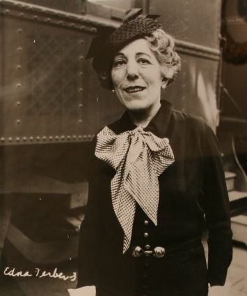Edna Ferber portrait displayed at the History Museum at the Castle.