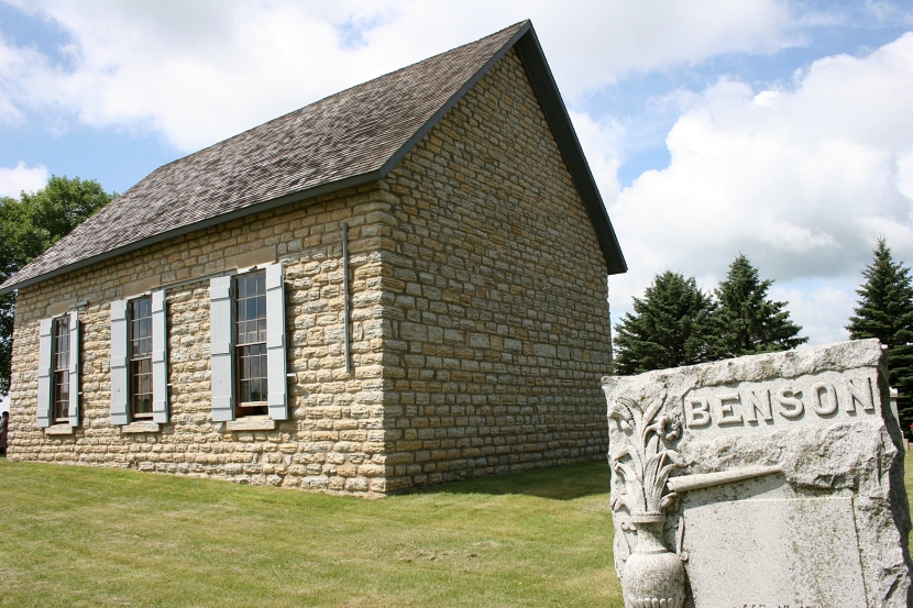 Stone against stone at Hauge Lutheran Church (the Old Stone Church) in Monkey Valley, rural Kenyon.