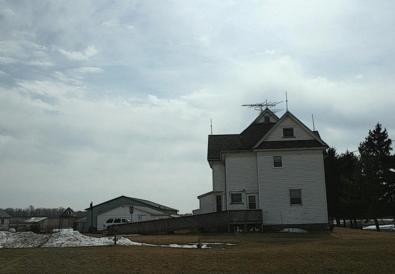A sturdy farmhouse near Redgranite, Wisconsin.