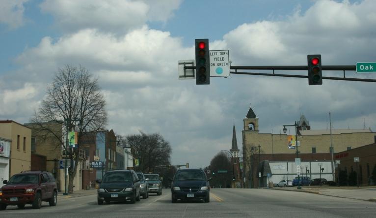Owatonna stoplight sign