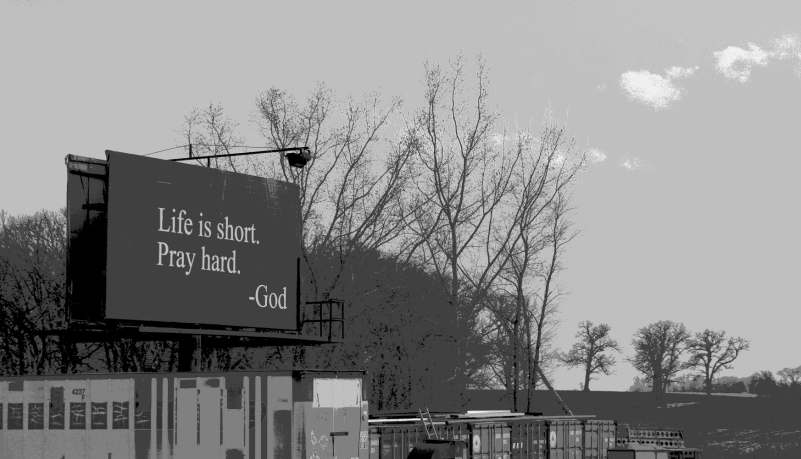 A billboard along U.S. Highway 14 between Janesville and Waseca, MN.