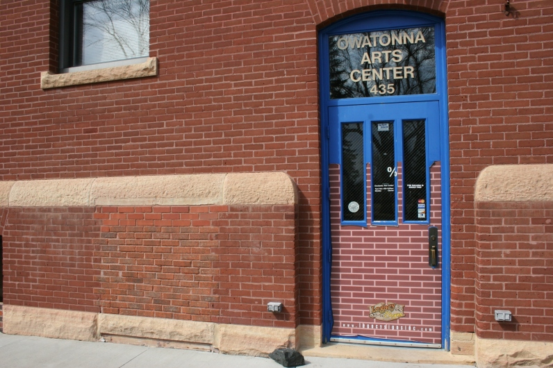 The entry to the Owatonna Art Center