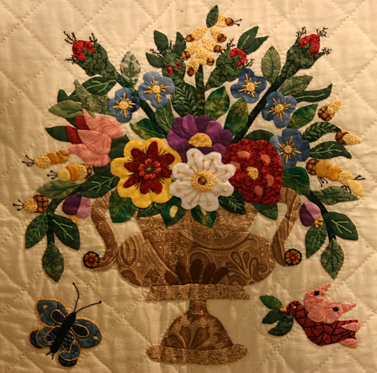 Floral design at its quilting best.