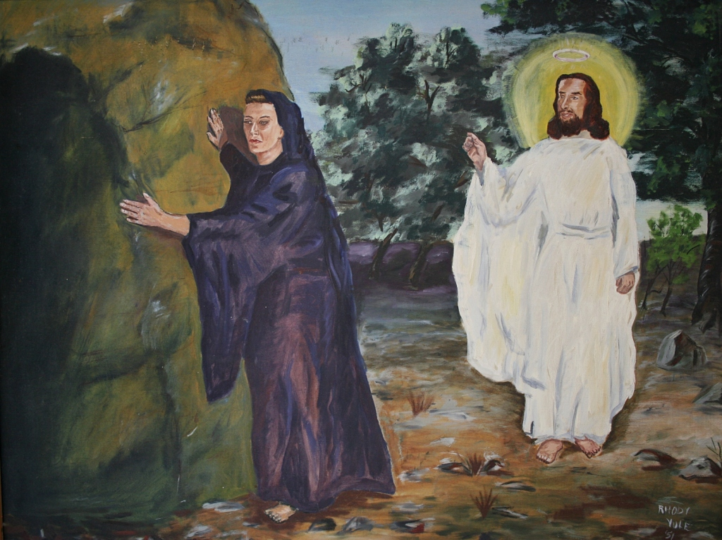 """""""The Risen Lord,"""" painted in by my artist friend, Rhody Yule of Faribault, who dies in June 2011 at the age of 92."""