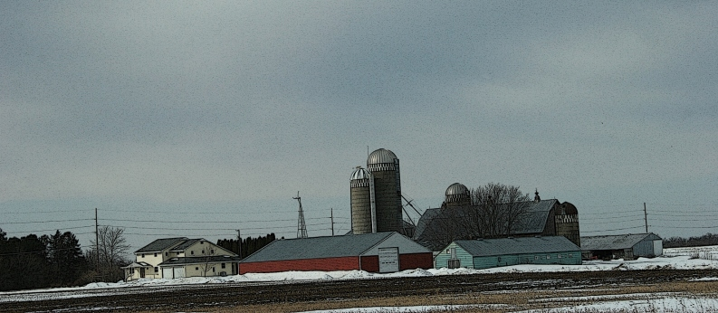 Rural Minnesota, farm site
