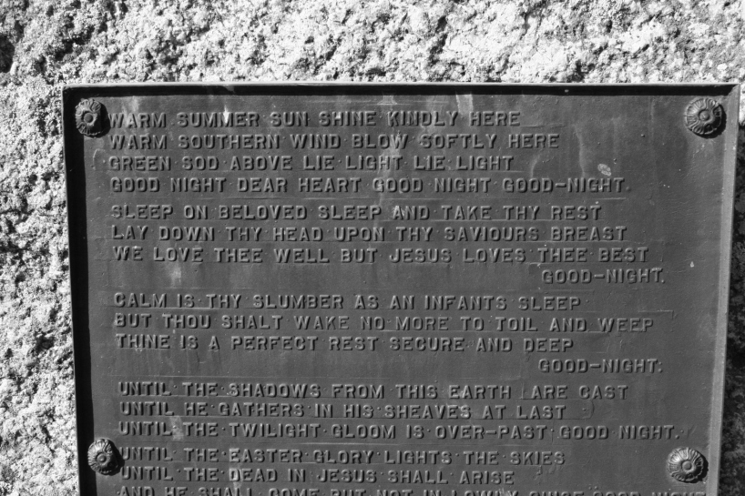 Words to ponder at a cemetery in Theilman in southeastern Minnesota.