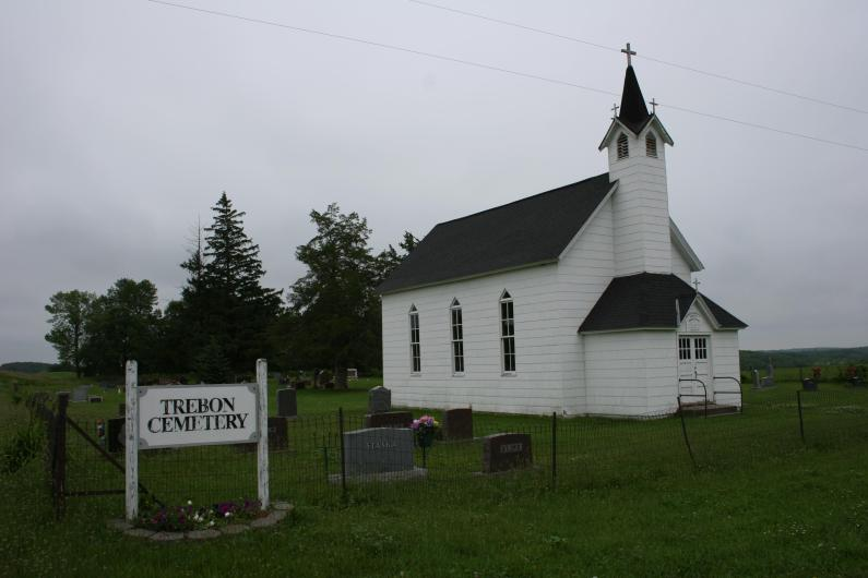 Northwest of Faribault in Shieldsville Township sits the historic Immaculate Conception of the Blessed Virgin Mary and the adjoined Trebon Cemetery.