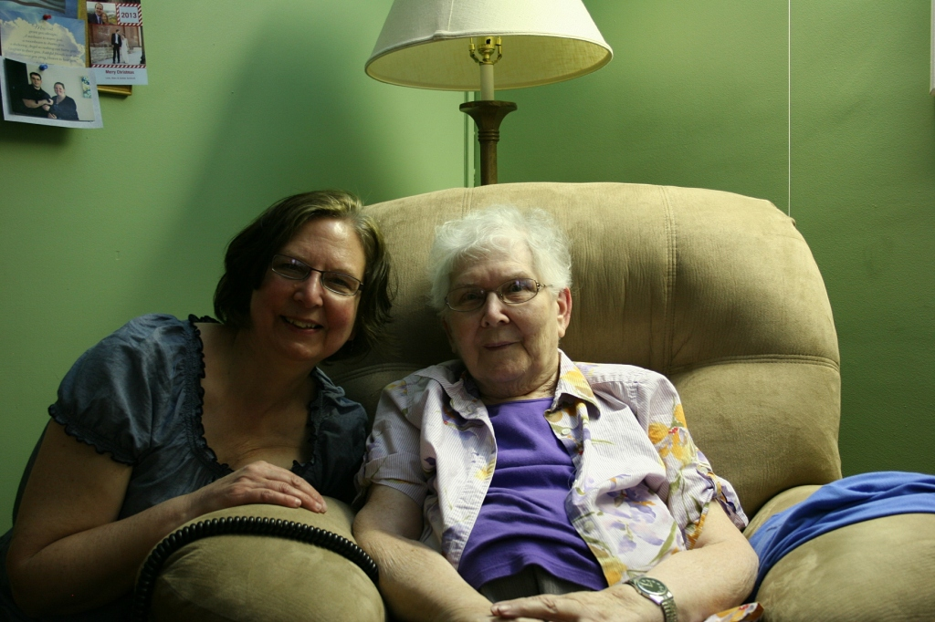 Me with my mom in her Parkview Home room.