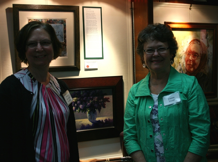 """Me on the left with """"my"""" artist, Jeanne Licari."""