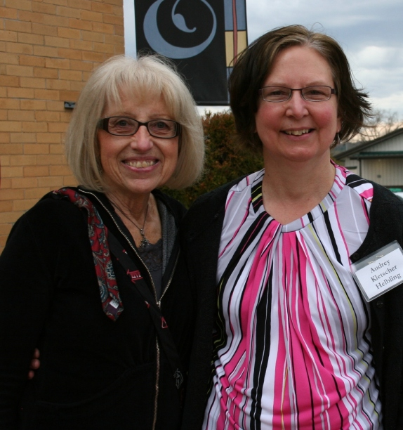Doreen, left, and I at Crossings at Carnegie.