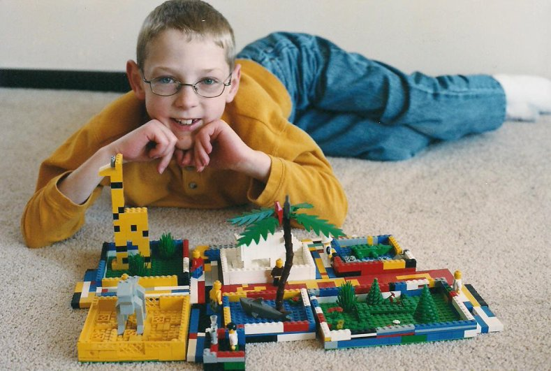 My Tufts University computer science and mathematics majors son played with LEGOs constantly while growing up. This photo was taken in June 2003.