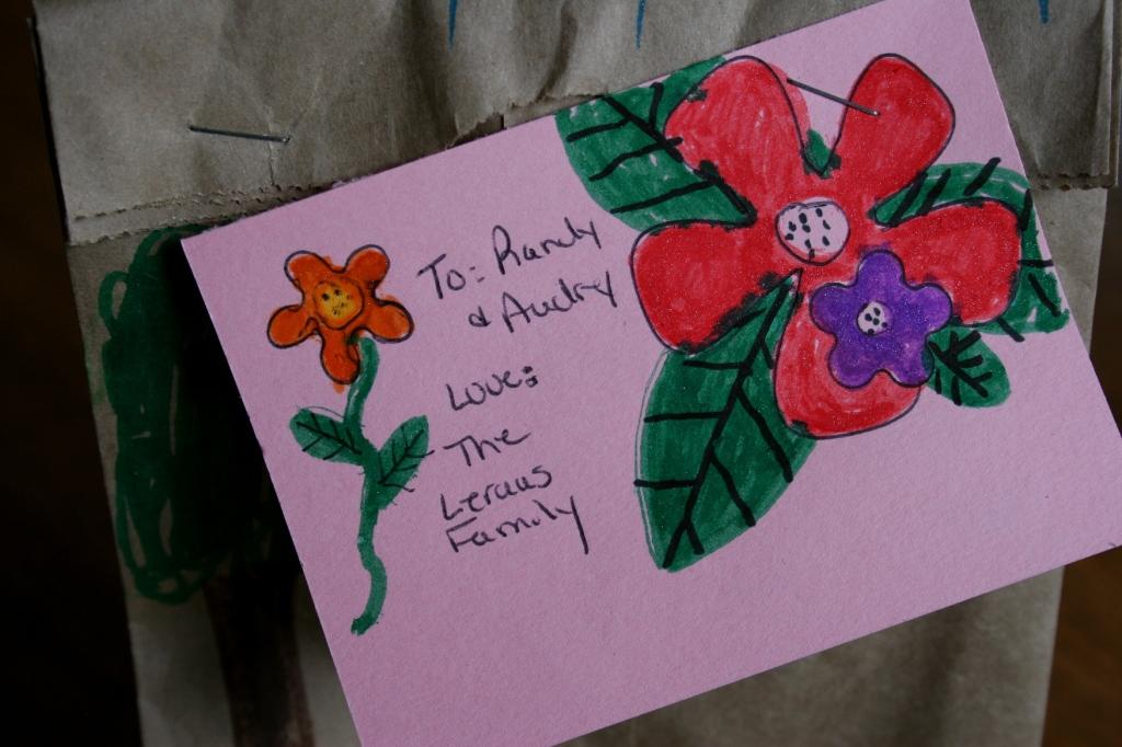May Day bag gift tag