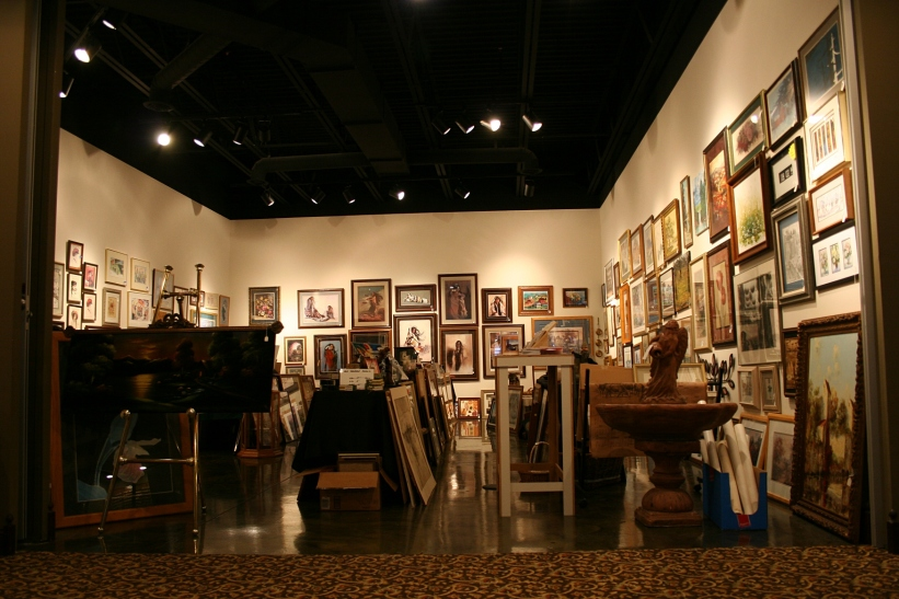 Thursday, opening day of the sale, the gallery was stuffed with art.