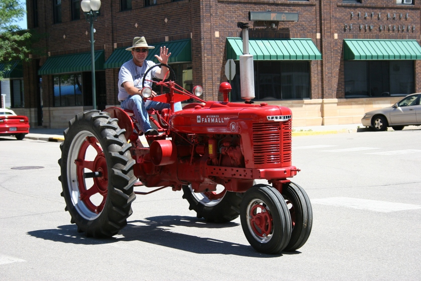 One of the 20 or so old-time tractor enthusiasts.