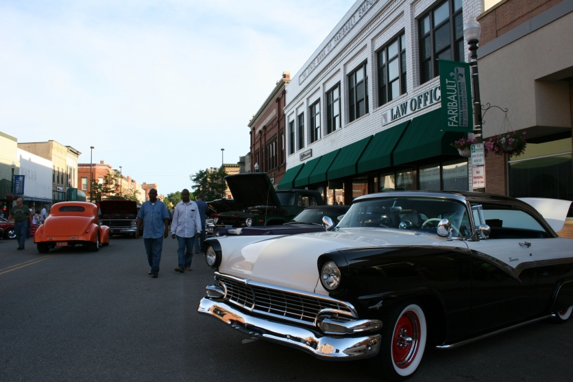 A scene from Faribault Car Cruise Night during Heritage Days.