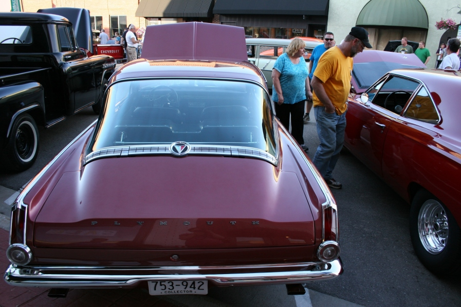 A 1965 Plymouth Baracuda purchased in 1964 and still owned by the original owner.
