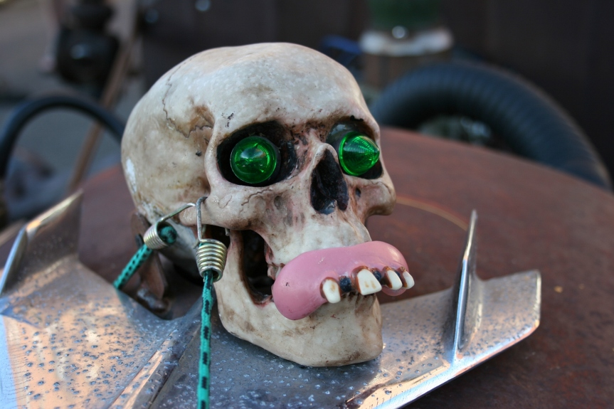 And then I moved in even closer to examine the freaky skull atop the Rat Rod.