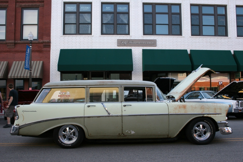This rustic Chevy wagon rated as my favorite of the evening.