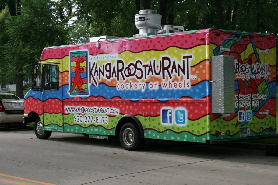 A food truck stops at City Park.