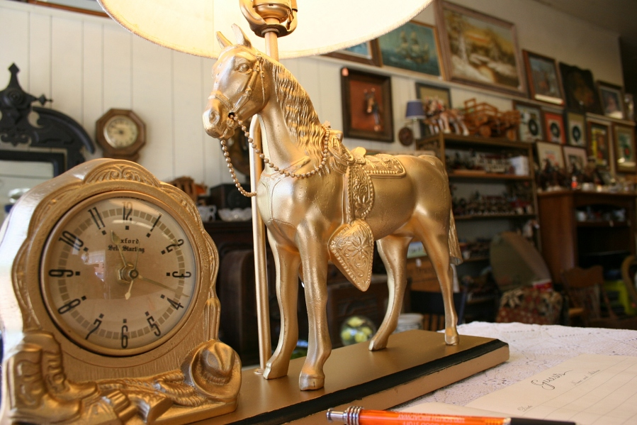 Be sure to sign the guestbook next to this horse lamp when you walk in the front door.