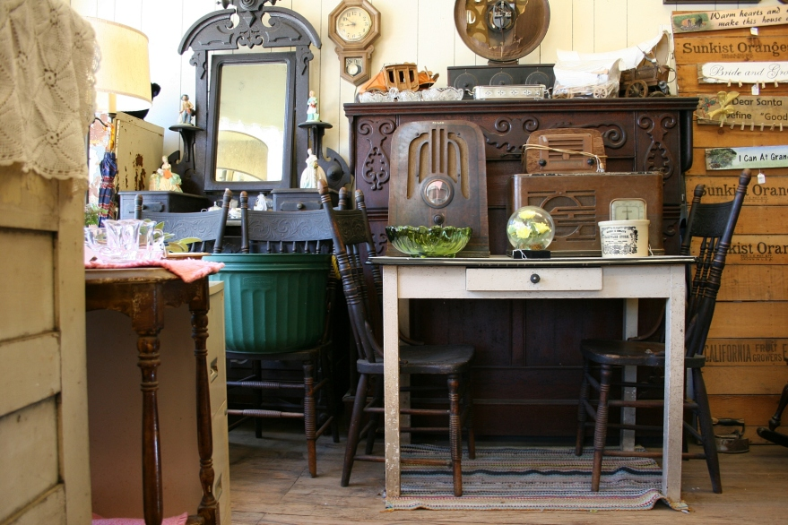 Wayne's store holds some wonderful antique furniture including the Murphy bed