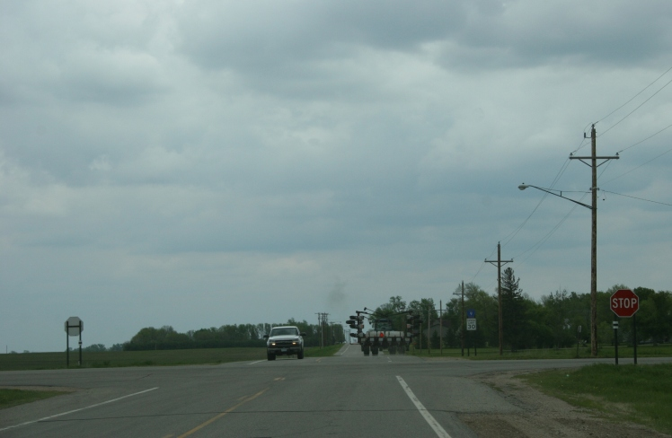 Nearing Delhi at the intersections of Redwood County Road 9 and 6.