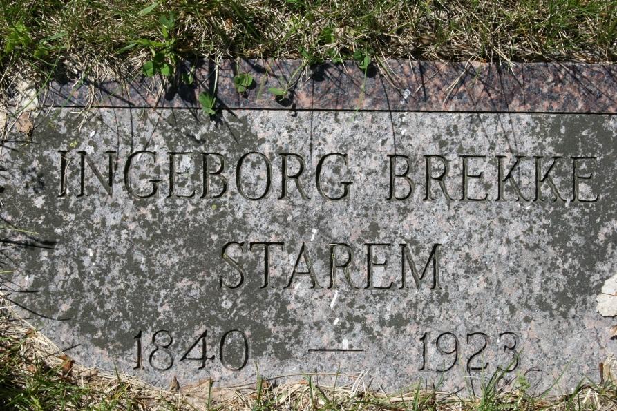 Eklund Cemetery, Ingeborg's gravestone