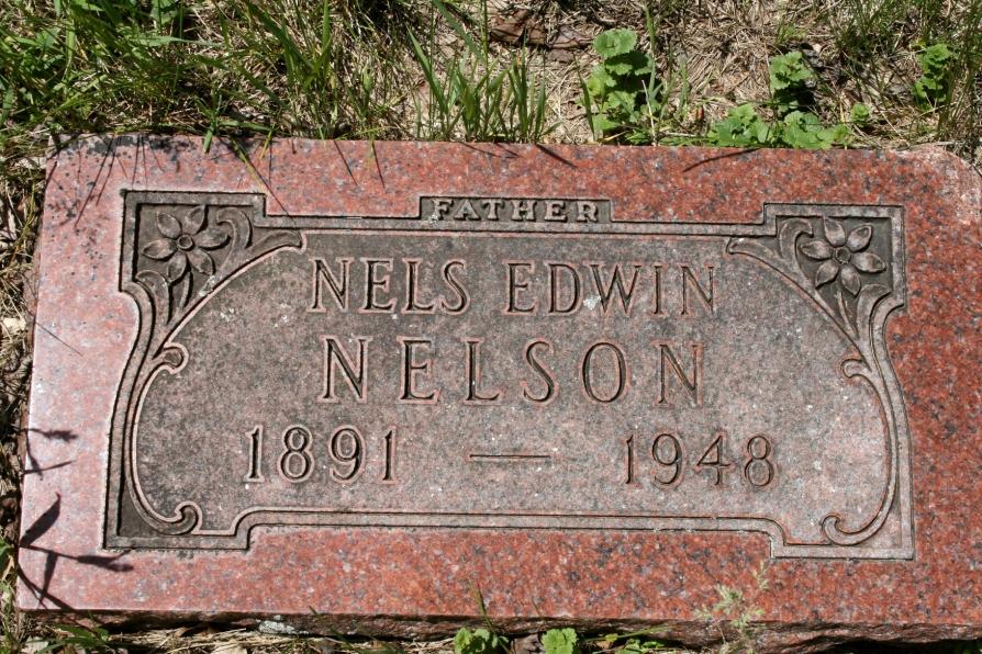 Eklund Cemetery, Nels Nelson gravestone