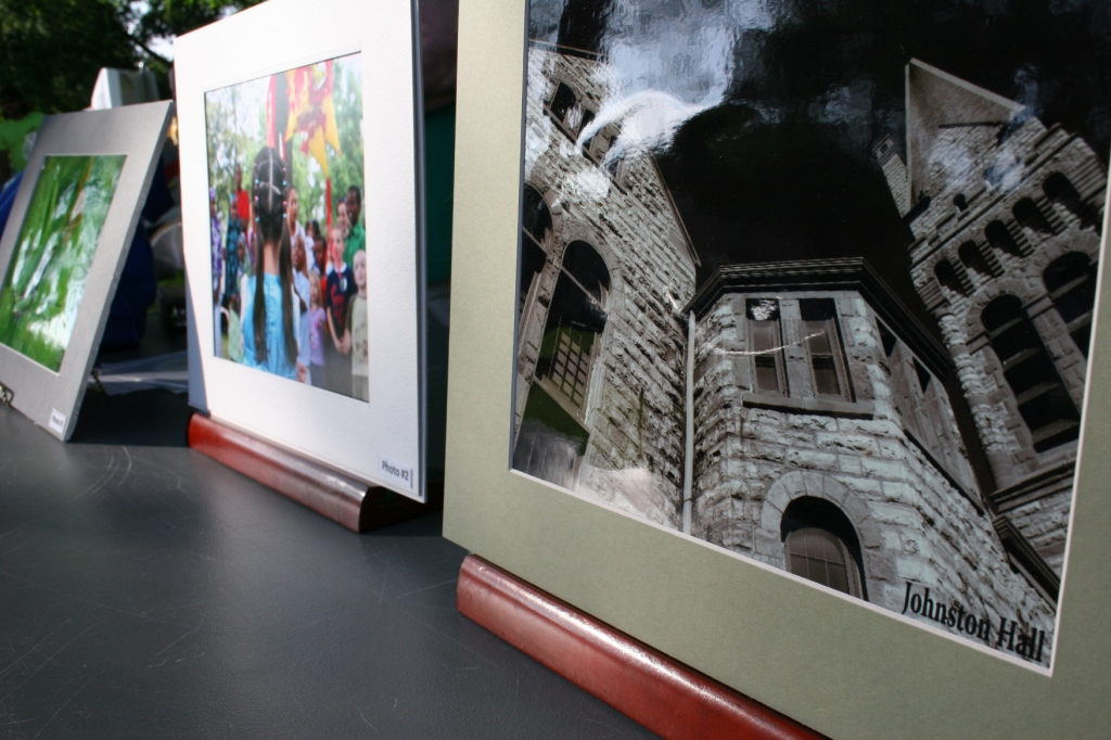 The only three entries, and thereby the winning entries, in the Faribault Heritage Days Photo Contest. The photo on the right of historic Johnston Hall was voted the community favorite during polling at the State Bank of Faribault.
