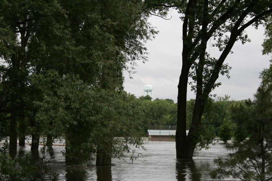 Flooded Teepee Tonka Park.