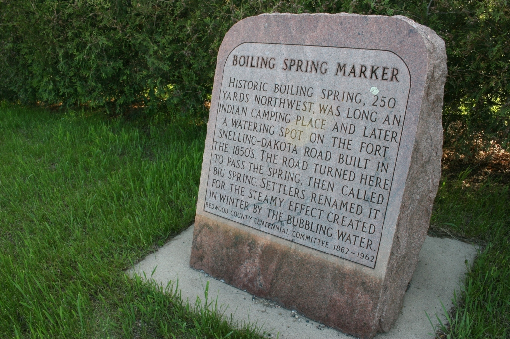 Pause to read the Boiling Spring historic marker.