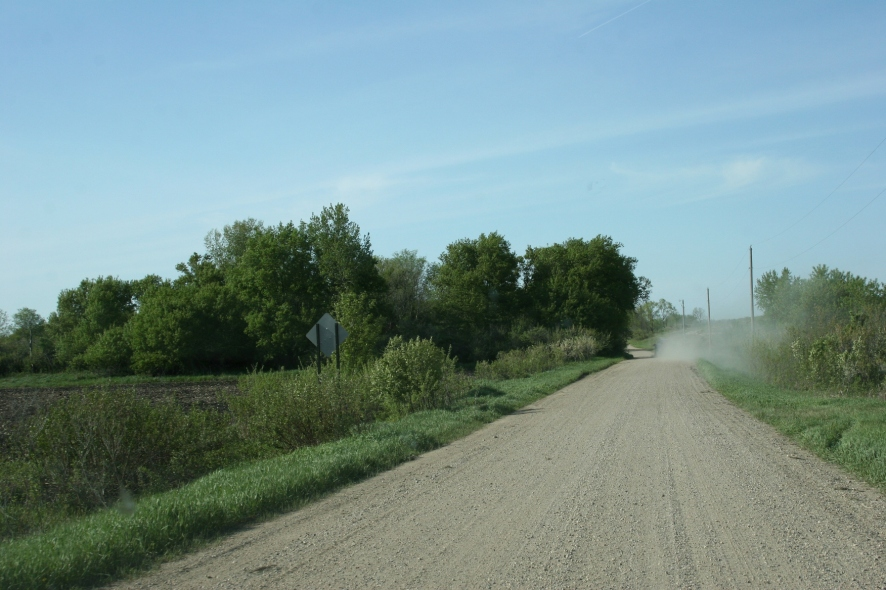 Turn onto this gravel road just off Redwood County Road 7.