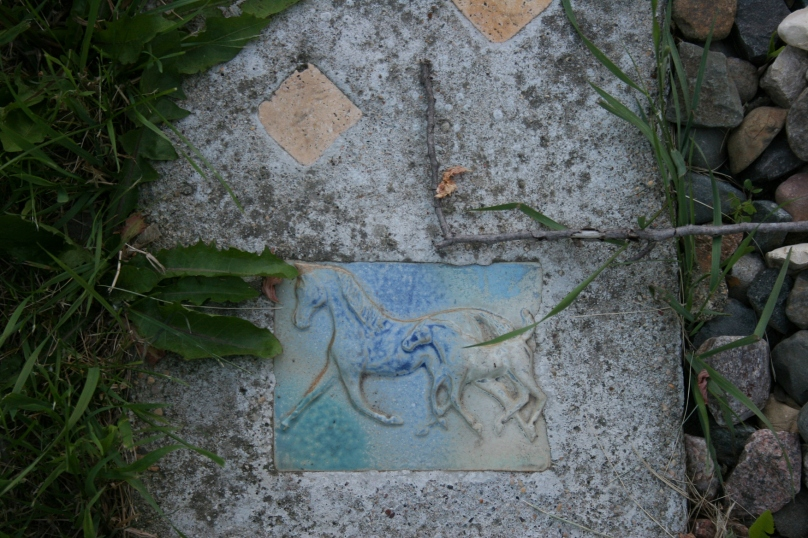 The horse tile celebrates a granddaughter's love of horses.